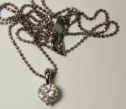 プラチナネックレス、ダイヤ1.036ct
