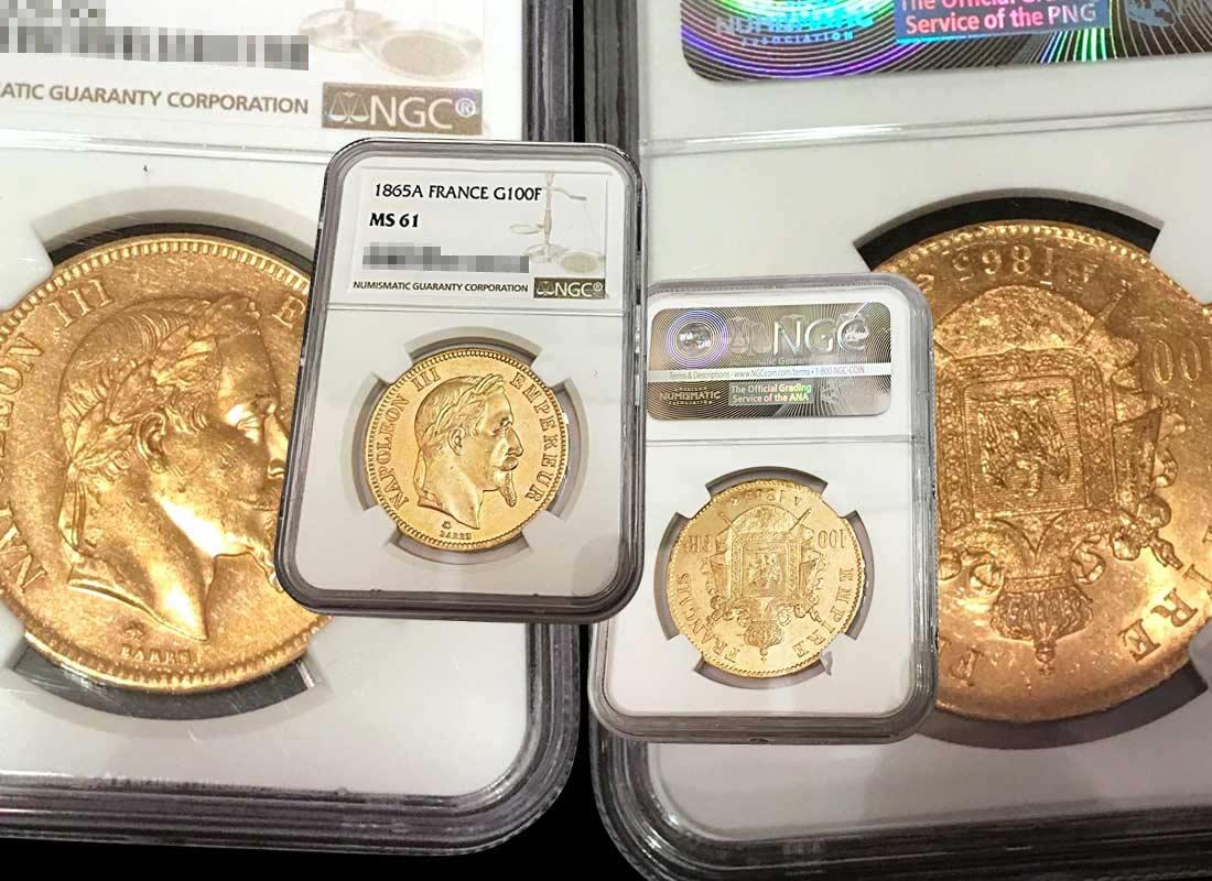 ナポレオン金貨 100フラン金貨 1865年 MS61の買取実績