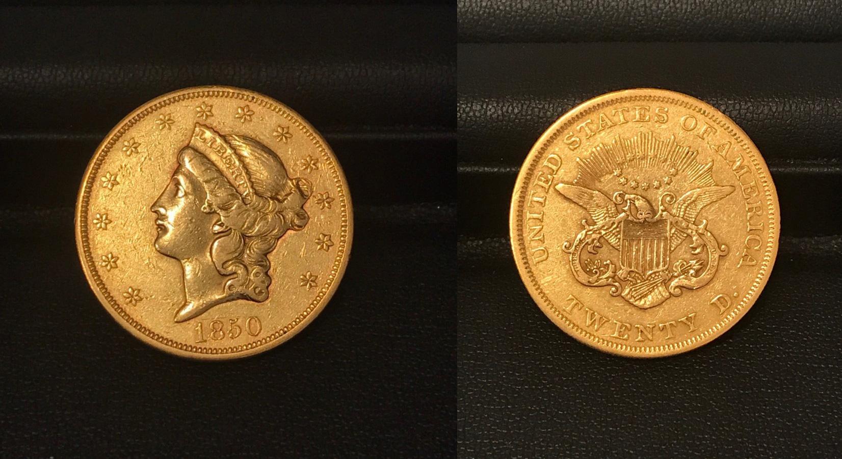 リバティヘッド20ドル金貨画像