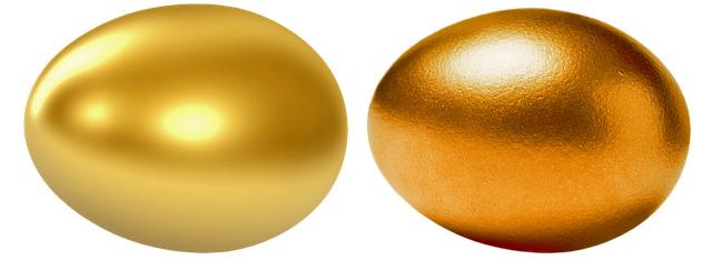 ゴールドとピンクゴールドイメージ