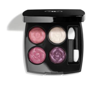 シャネルのピンクや紫系の4色のパレットの画像