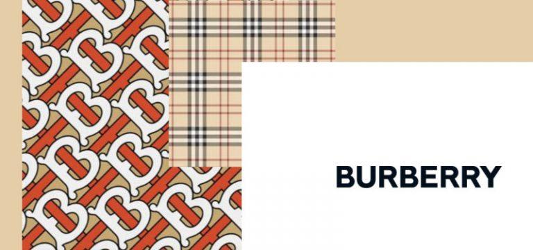 バーバリーのロゴやバーバリーチェックが配置されたイメージ画像